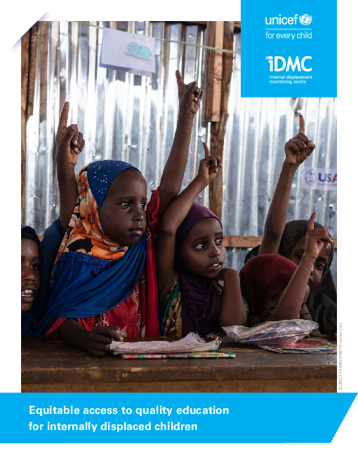 Equitable access to quality education for internally displaced children