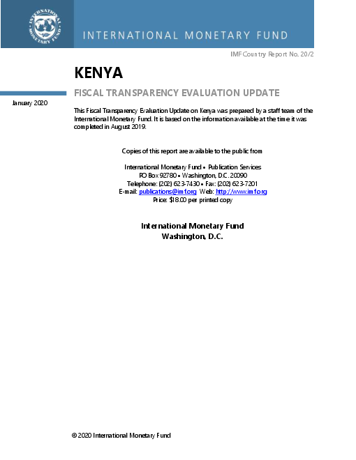 Kenya: Fiscal Transparency Evaluation Update