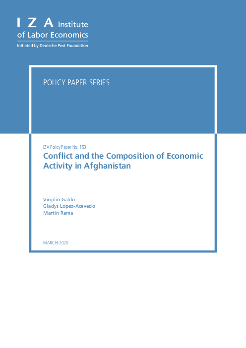 Conflict and the Composition of Economic Activity in Afghanistan