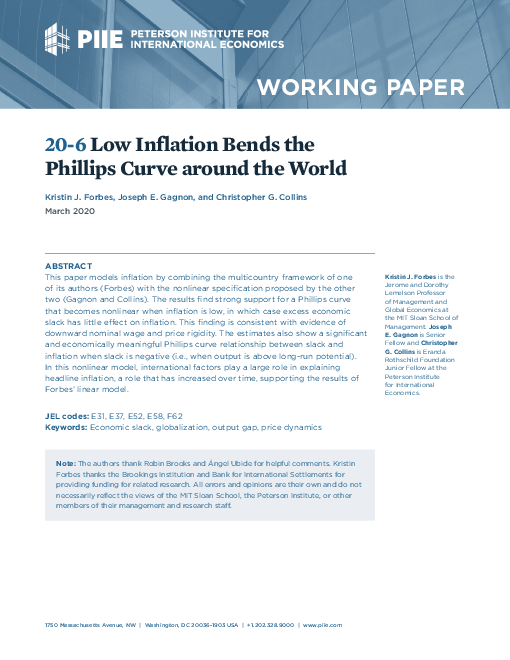 Low Inflation Bends the Phillips Curve around the World