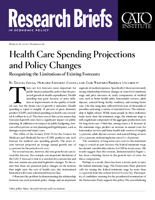 Health Care Spending Projections and Policy Changes: Recognizing the Limitations of Existing Forecasts