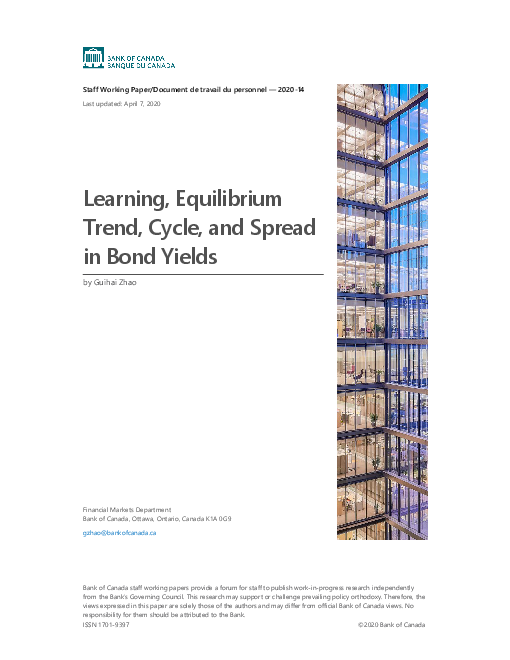 Learning, Equilibrium Trend, Cycle, and Spread in Bond Yields