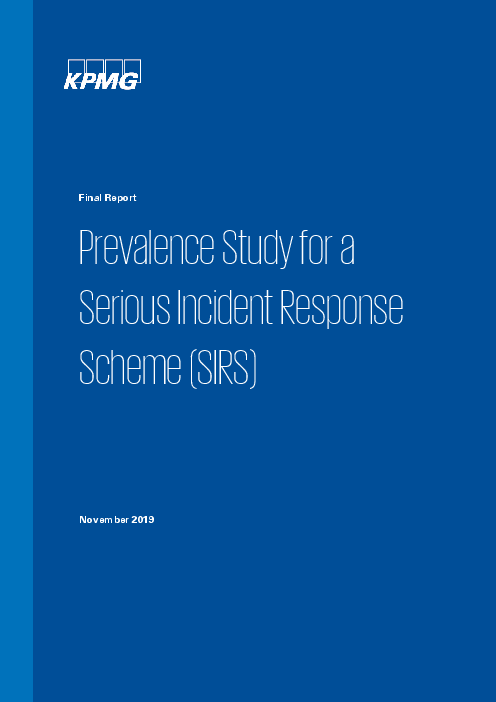 Prevalence Study for a Serious Incident Response Scheme (SIRS): Final Report