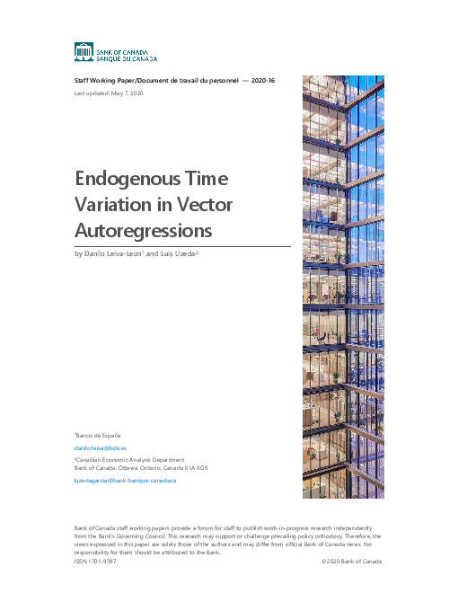 Endogenous Time Variation in Vector Autoregressions