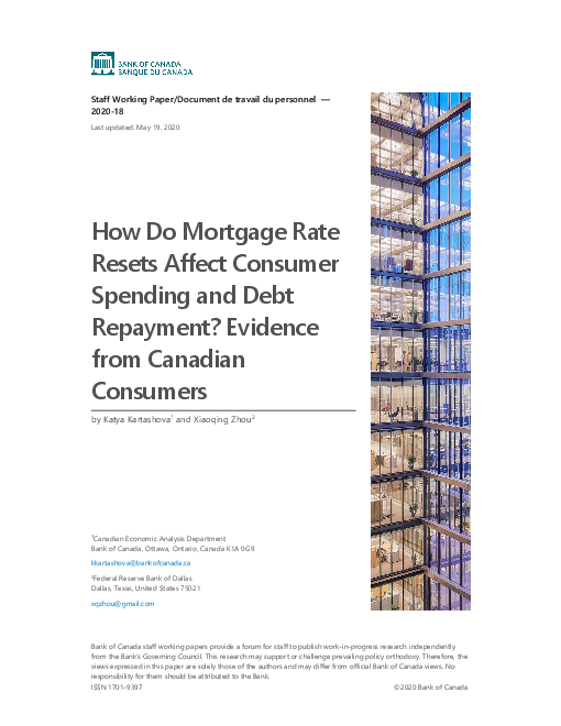 How Do Mortgage Rate Resets Affect Consumer Spending and Debt Repayment? Evidence from Canadian Consumers
