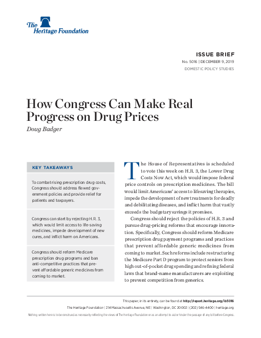 How Congress Can Make Real Progress on Drug Prices