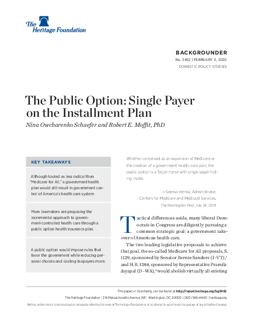 The Public Option: Single Payer on the Installment Plan