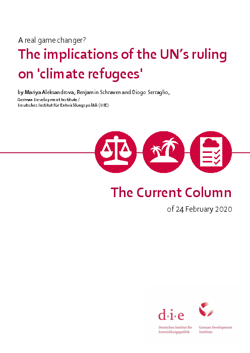 The implications of the UN's ruling on ´climate refugees´: A real game changer?