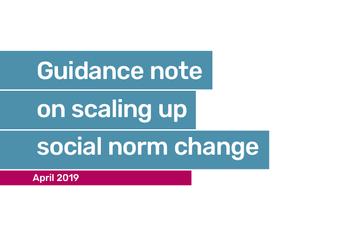 Guidance note on scaling up social norm change