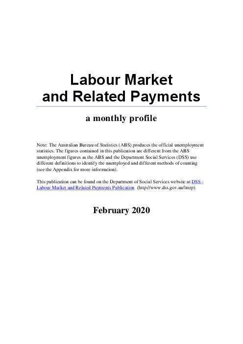 노동시장과 관련 급여 및 수당 : 월간 현황 - 2020년 2월 (Labour Market and Related Payments February 2020)