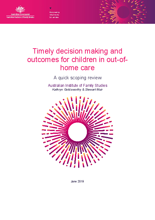 Timely decision making and outcomes for children in out-of-home care: A quick scoping review