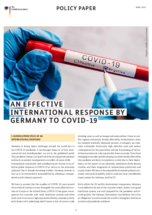 An effective international response by Germany to COVID-19